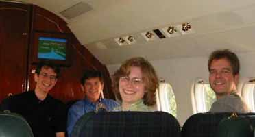That was supposed to be a picture of me on a corporate jet